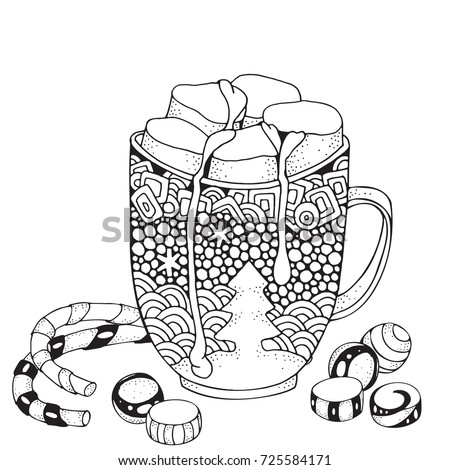 Imhope 39 s portfolio on shutterstock for Cute marshmallow coloring pages