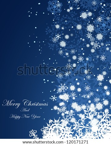 Christmas (New Year)  background. EPS 8 Vector illustration. - stock vector
