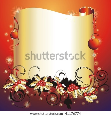 Christmas & New-Year's frame. (vector illustration)