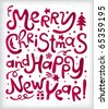 Christmas new year's inscriptions - stock photo