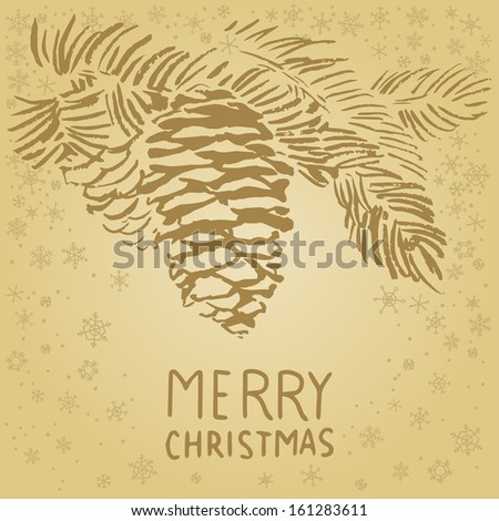 Christmas/New Year vector greetings card.