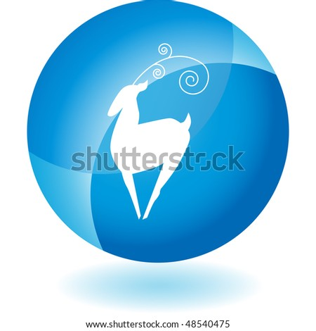 Christmas North Pole web button isolated on a background