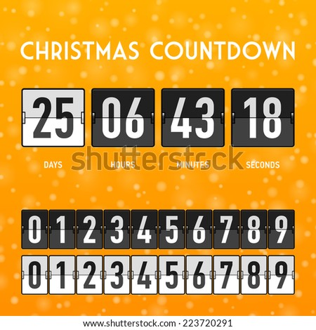 Christmas or New Year countdown timer. Vector. - stock vector