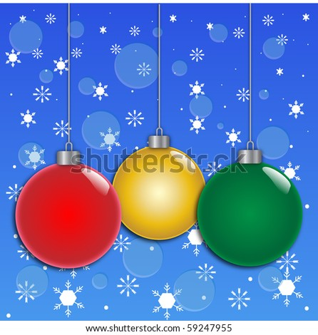 Christmas Ornament Background Vector - stock vector
