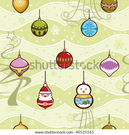 Christmas Ornament Pattern SEAMLESS