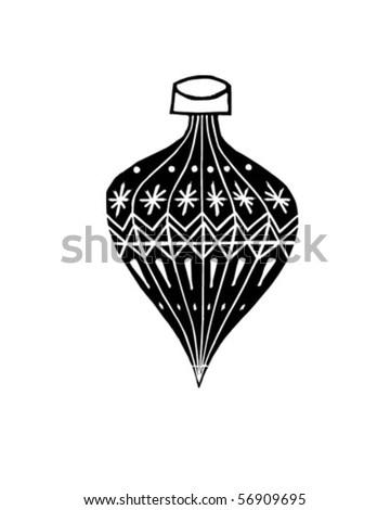 Christmas Ornament - Retro Clip Art - stock vector