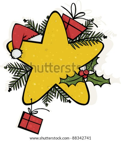 Christmas ornament with a big star