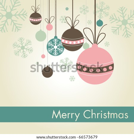 Christmas Ornaments - stock vector