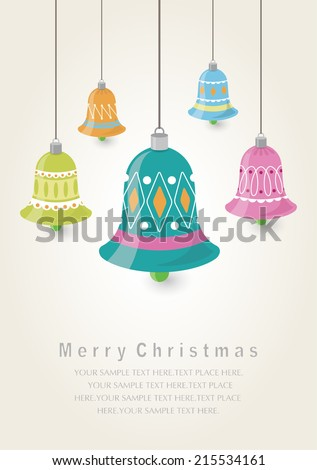 Christmas ornaments.Christmas Greeting Card.Vector illustration. - stock vector