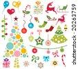 christmas ornaments vector - stock vector