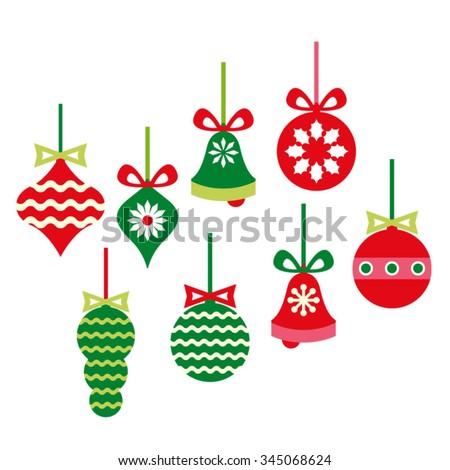 christmas ornaments vector stock vector 345068624 shutterstock rh shutterstock com christmas ornament vector free download christmas ornament vector free
