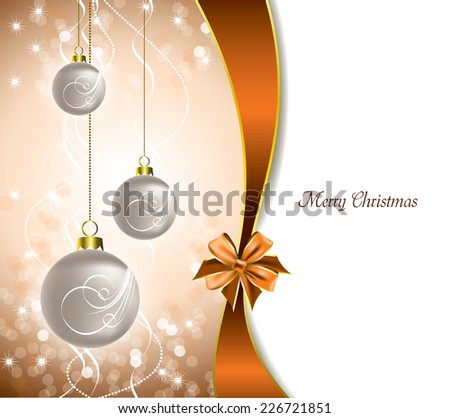Christmas Ornaments. Vector Background.