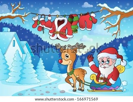 Christmas outdoor theme 2 - eps10 vector illustration. - stock vector