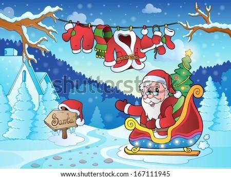 Christmas outdoor theme 4 - eps10 vector illustration. - stock vector