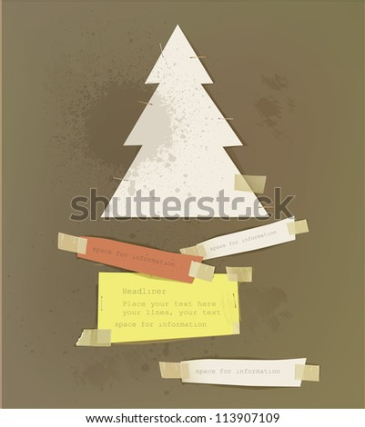 Christmas paper backgrounds - stock vector
