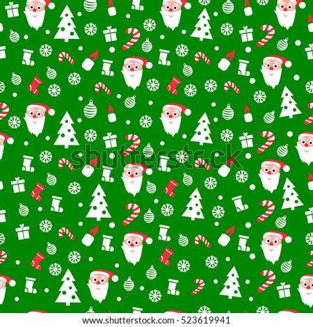 Christmas paper vector seamless pattern