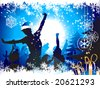Christmas party background - stock vector