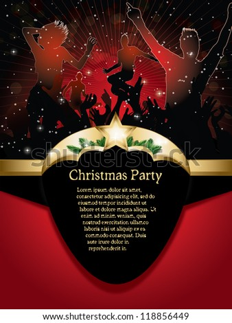 christmas party background  (also available jpg version) - stock vector