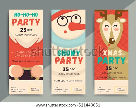 Christmas Party Flyer Template Design Xmas Stock Vector Hd Royalty