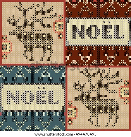 Christmas pattern, Noel poster template. Very detailed, in tapestry style vector illustration.vector artwork.