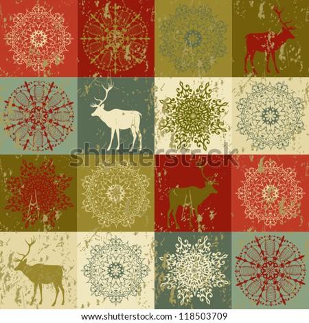 Christmas pattern Seamless christmas background - stock vector