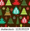 christmas pattern. vector illustration - stock vector