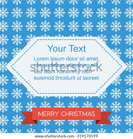 Christmas Pattern With Text