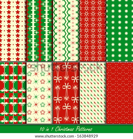Christmas patterns collection set for making wallpapers