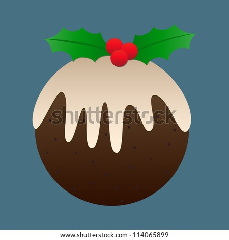 Christmas plum pudding design -ideal as a background, tile or icon! - stock vector