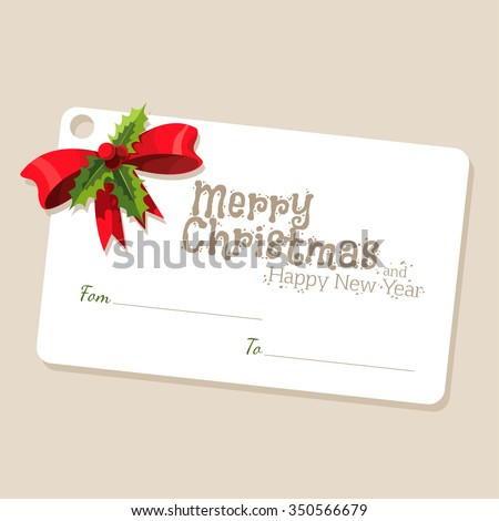 Christmas Post Card. Vector Illustration - stock vector