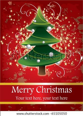 Christmas postcard design - stock vector