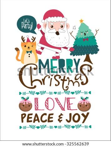 Christmas poster/ card design - stock vector