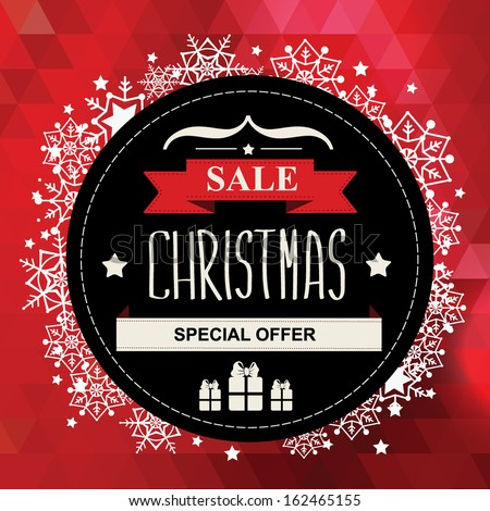 Christmas Poster Sale.Typography.Vector illustration. - stock vector