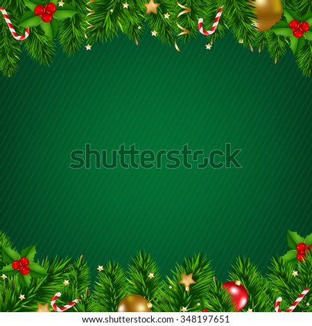 Christmas Poster With Gradient Mesh, Vector Illustration - stock vector