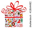 Christmas present. - stock vector