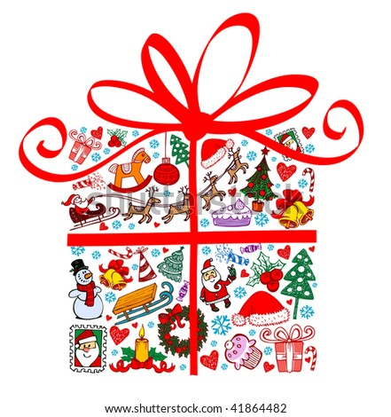Christmas present. - stock vector