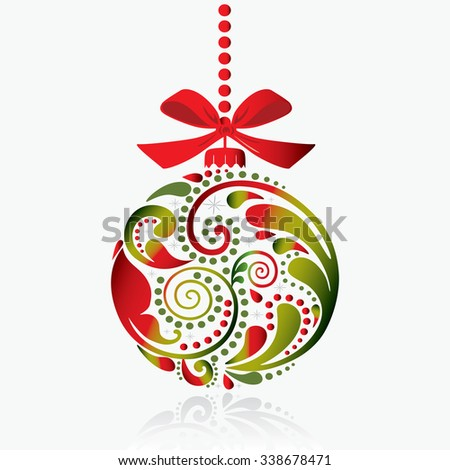 Christmas print. Christmas toy. Isolated object. - stock vector
