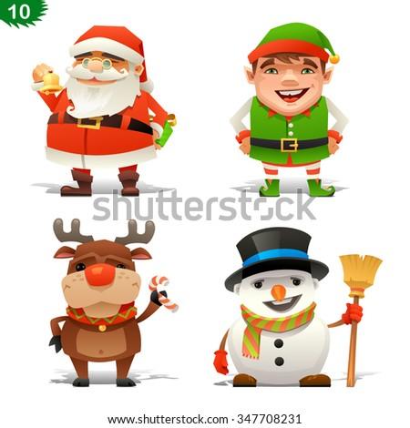 Christmas professions set - stock vector
