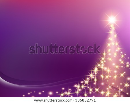 Christmas purple violet pink purple Background with wave and smooth line. Abstract Vector Illustration. - stock vector