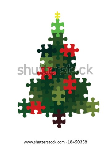 Christmas Puzzle - stock vector