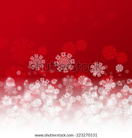 Christmas red background. EPS10 vector. - stock vector