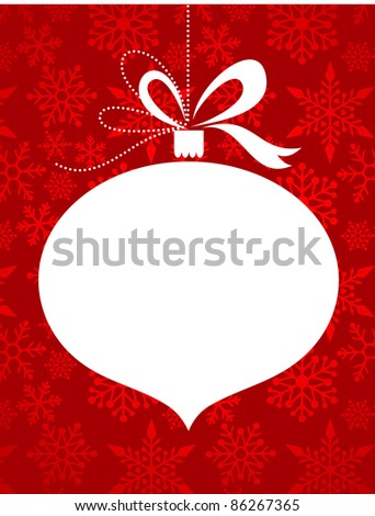 Christmas red background with snowflakes pattern - stock vector