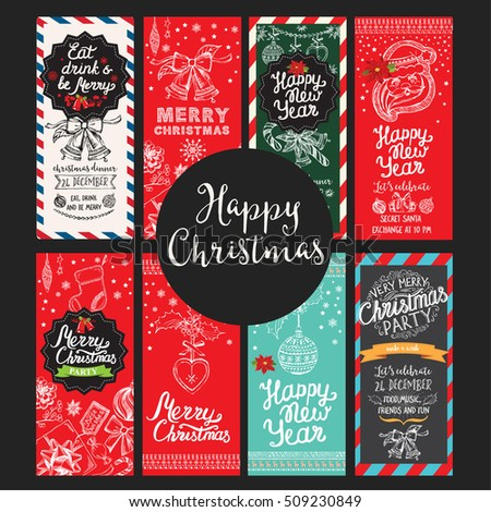 Christmas Restaurant Brochure Menu Template Vector Stock Vector
