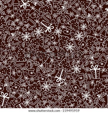 Christmas Retro background - stock vector