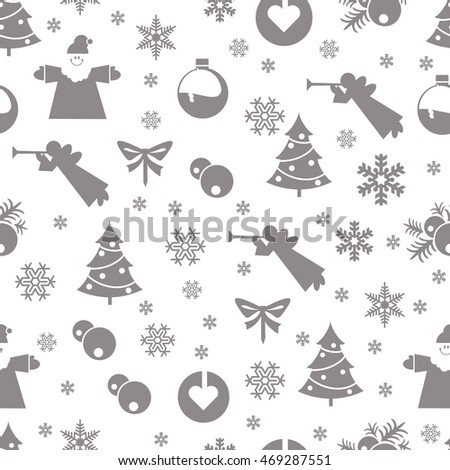Christmas retro vintage seamless pattern. Endless texture can be used for printing onto fabric and paper or scrap booking, surface textile, web page background.