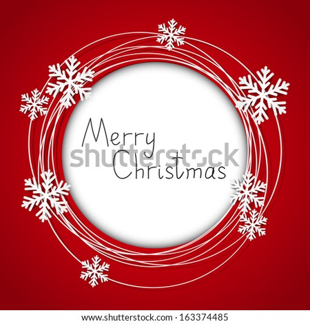 Christmas round frame with place for text - stock vector