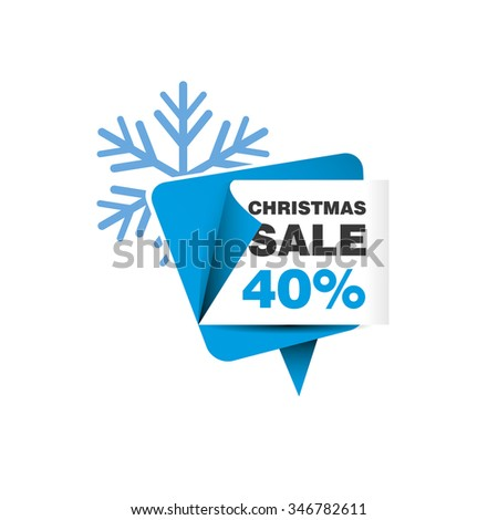 Christmas sale 40% - stock vector
