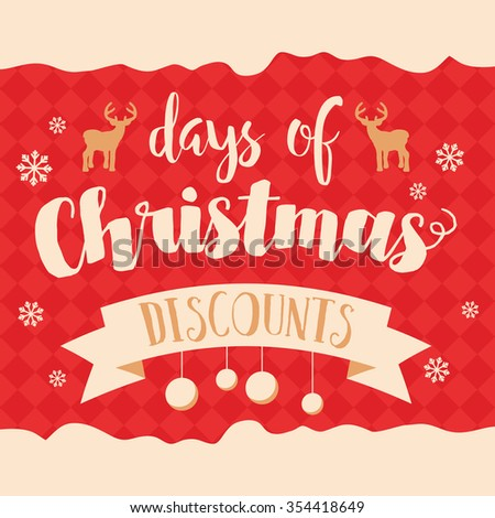 Christmas sale and discounts. Retail banner and poster. - stock vector
