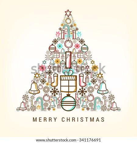 Christmas sale banner. - stock vector