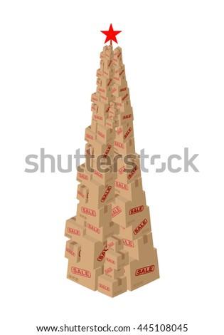Christmas Tree Cardboard Made Stock Images Royalty Free Images  - Christmas Tree Discounts